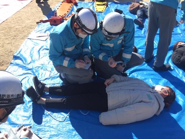 国文祭開催を前に和歌山市でけが人の救助訓練