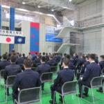 県消防学校で入校式、女性の入校・過去最多の9人