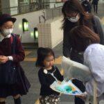 JR和歌山駅前で紀の国わかやま文化祭2021の200日前街頭PR