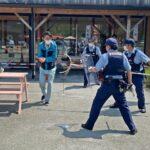 オリンピックを前に・かつらぎ町の道の駅でテロ対処訓練