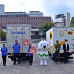 県内初・宅配業者2社が県と連携して交通安全啓発